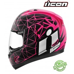 Casque ICON ALLIANCE CRYSMATIC PINK