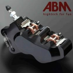 Etrier CNC ABM isaac4 - 4 Pistons - Position AVGauche - entraxe 40mm