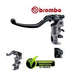 "MAITRE-CYLINDRE BREMBO EMBRAYAGE RADIAL PR19 RCS LEVIER LONG REPLIABLE - GUIDON 1"" - 25.4MM"