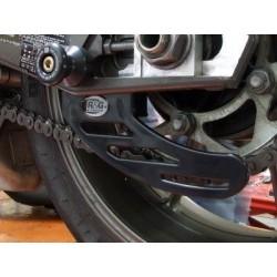 Protege Couronne - Dents de requin en ALU NOIR - Yamaha R1 15-17 / MT01 16-17 / MT03 16