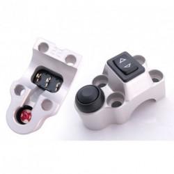 Contacteur ISR - 1 rocker + 1 poussoir - CNC - Guidon 25,4mm