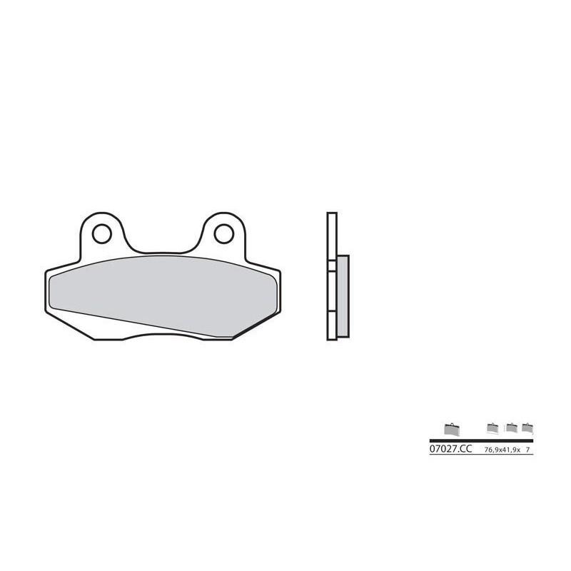 plaquettes de frein brembo 07027cc carbone c ramique. Black Bedroom Furniture Sets. Home Design Ideas