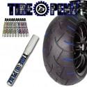 Kit Stylo peinture à pneu TIREPENZ REFLECT - Bleu