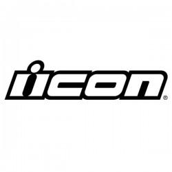 2x Stickers ICON - BLANC 8cm