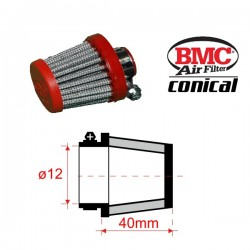 Filtre de Reniflards conique BMC - ø12mm x 40mm