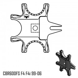 Triple Bracket - CBR600FS F4i F4 99-06