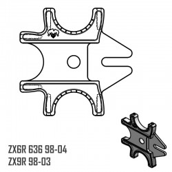 Triple Braket - ZX6R 636 98-04 - ZX9R 98-03
