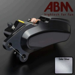 Front Right Caliper CNC ABM isaac4 - 6 piston - 72mm - INTRUDER - SILVER COLOR