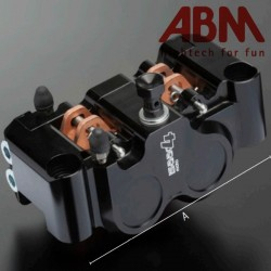 Etrier Radial CNC ABM isaac4 - 4 Pistons - Position AVGauche - entraxe 100mm