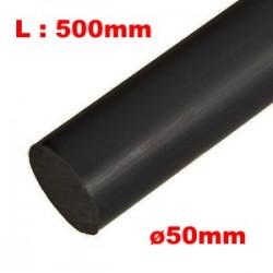 DELRIN Bar Ø50mm - L500mm - Black - for sliders