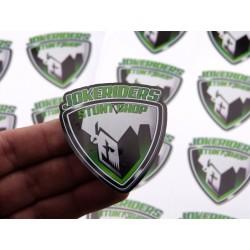 Sticker Jokeriders BLASON - Green - 6x6cm