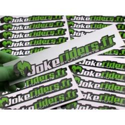 Sticker Jokeriders OFFICIAL - Green - 20X3.5cm