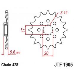 Pignon JT SPROCKETS 13 dents acier standard pas 428 type 1905