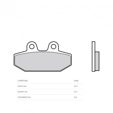 Plaquettes de frein BREMBO métal fritté - 07HD23SP