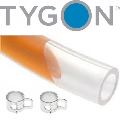 "Hoses Brake Fluid TYGON 6.4mm - 12"" - 30cm + 2 clamps"