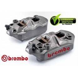 PACK BREMBO 2 CALIPERS M4 BRUT RADIAUX MONOBLOC FORGED ENTRAXE 108MM