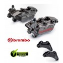 PACK BREMBO 2 ETRIERS AXIAUX CNC YAMAHA TMAX 09-11+ SUPPORTS