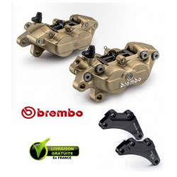 PACK BREMBO 2 ETRIERS AXIAUX FORGES YAMAHA TMAX 09-11 + SUPPORTS