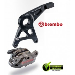 KIT BREMBO REAR CALIPER CNC BRUT WITH CARRIER GSXR1000 07-08