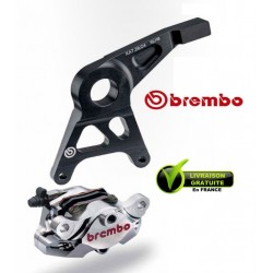 KIT REAR CALIPER BREMBO CNC NICKEL WITH CARRIER GSXR1000 07-08