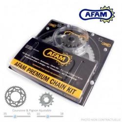 Kit Chaine AFAM - 125 PEGASO 89-91 APRILIA - Acier - Chaine 520MR1-Renforce