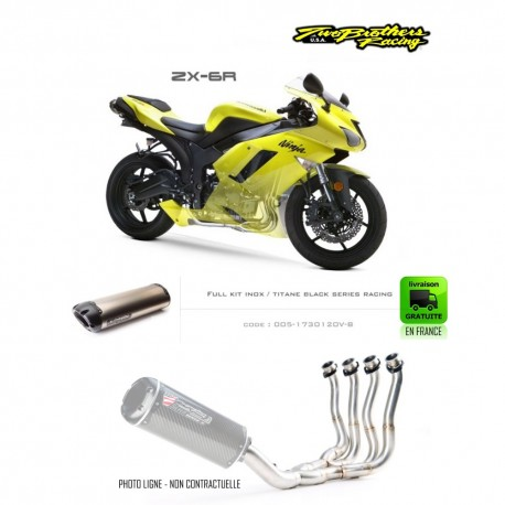 LIGNE COMPLETE - KAWASAKI ZX6R 2007-2008 TWO BROTHERS