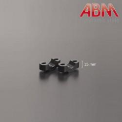 Pontets ABM BringUp 22,2mm - Rehausse 15mm - NOIR