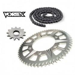 Kit Chaine STUNT - 15x54 - CB600F HORNET 07-13 HONDA Chaine Grise