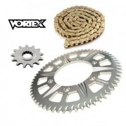 Kit Chaine STUNT - 15x60 - ZX-6R 600 636 98-02 KAWASAKI Chaine Or