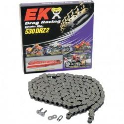 Chaine EK 530 - DRZ2 - 150 Maillons - Grise - Att.Rapide