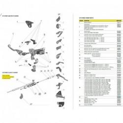 Adaptateur de montage Pour 167 HYMEC ESCLAVE KXF 250 2004-2008 (N°28.1 sur photo - réf : 0430240)